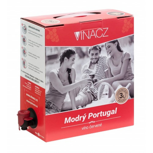 Modrý portugal 3l bag in box /Vina.cz/