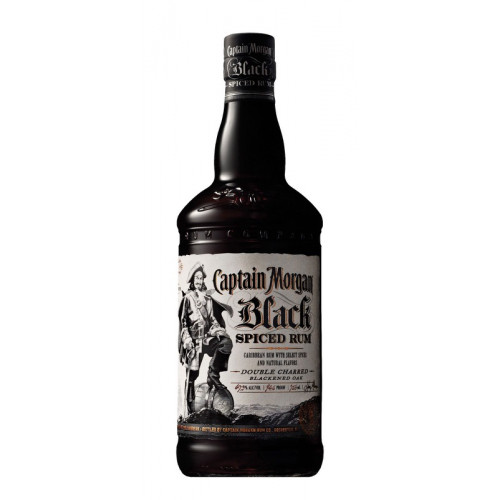 Rum Captain Morgan Black Spiced 40% 1l /Jamajka/